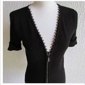 Belldini Black Sweater with Rhinestones Sz M